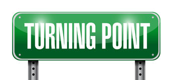 Turning point sign illustration design. Over a white background Stock Photo