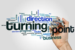 Turning point word cloud. Concept royalty free stock image