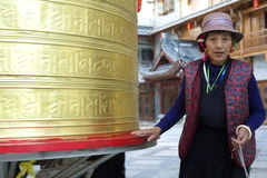 Turning The Prayer Wheel Royalty Free Stock Image