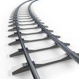 Turning railway. 3d render illustration on white Royalty Free Stock Photography