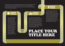 Turning Ribbon Background Page Layout Stock Image