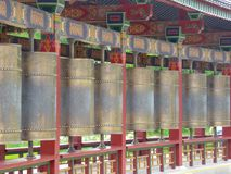 Buddha prayer wheels  Royalty Free Stock Photo