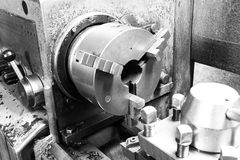Turning self-centering chuck lathe Royalty Free Stock Photos