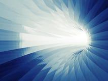 Turning shining tunnel interior. 3d illustration Royalty Free Stock Images