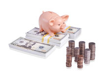 Turning Simple Savings Into A Small Fortune royalty free stock images