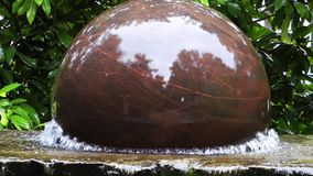 Turning Sphere Stone on Water. Video. The shot was taking from a Zoo in Frankfurt stock video footage