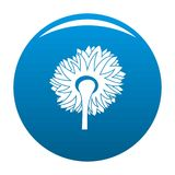 Turning sunflower icon vector blue. Turning sunflower icon. Simple illustration of turning sunflower vector icon for any design blue Stock Images