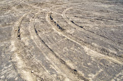 Turning tire tracks Stock Photography