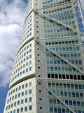 Turning Torso 02. A close up view of the turning torso twisted tower block in malmo Stock Image