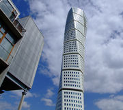 Turning Torso 13. A view of the turning torso twisted tower block in malmo Stock Photo