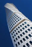 Turning Torso. MALMO - AUGUST 23: Turning Torso facade on AUGUST 23, 2009 in Malmo, Sweden. Turning Torso is a residential and commercial tower reaches a height Royalty Free Stock Images
