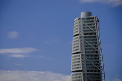 Turning Torso. Is a modern residential and commercial skyscraper designed by the Spanish architect Santiago Calatrava for the town of Malmo, Sweden Stock Photo
