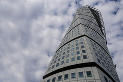 Turning Torso. Is a modern residential and commercial skyscraper designed by the Spanish architect Santiago Calatrava for the town of Malmo, Sweden Stock Image
