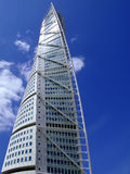 Turning Torso. A view of the turning torso twisted tower block in malmo Stock Images