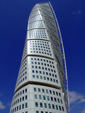 Turning Torso. A view of the turning torso twisted tower block in malmo Royalty Free Stock Photo
