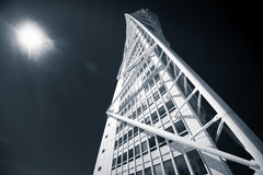 Turning Torso building, Malmö, Sweden. Malmo, Sweden - May 01, 2017: Landmark of the city - the Turning Torso building by Spanish architect Santiago Calatrava Royalty Free Stock Photo