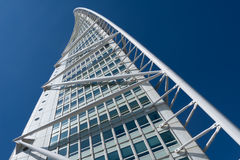 Turning Torso building, Malmö, Sweden. Malmo, Sweden - May 01, 2017: Landmark of the city - the Turning Torso building by Spanish architect Santiago Calatrava Stock Image