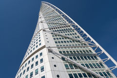 Turning Torso building, Malmö, Sweden. Malmo, Sweden - May 01, 2017: Landmark of the city - the Turning Torso building by Spanish architect Santiago Calatrava Stock Images