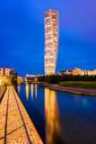 Turning Torso Building in Malmo Sweden around sunset Stock Photo