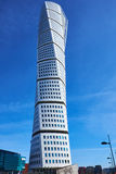 Turning Torso building. MALMO, SWEDEN - MARTS 28, 2014: close up of Turning Torso in full height photographed from the street Royalty Free Stock Images