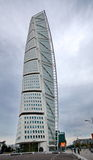 Turning Torso building. MALMO, SWEDEN - SEPTEMBER 17: Turning Torso buildong on September 17 , 2015 in Malmo, Sweden. Turning Torso is a skyscraper designed by Royalty Free Stock Photography