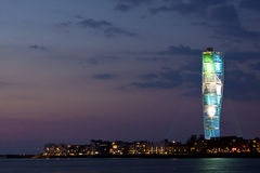 Turning Torso in color royalty free stock photography