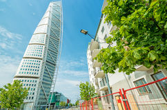 Turning Torso facade - street side view Stock Photography