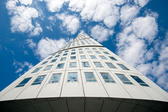 Turning Torso in Malmo, Sweden. Malmo, Sweden – August 20, 2013: The Turning Torso in Malmo, Sweden. The iconic skyscraper Turning Torso measuring 190 meters Stock Photography