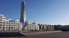 Turning torso in Malmo, Sweden stock video footage