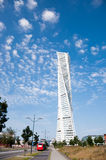 Turning Torso in Malmo, Sweden. Turning Torso, the highest building in south Sweden (Scania), in a sunny summer day Stock Image