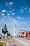 Turning Torso in Malmo, Sweden. Turning Torso, the highest building in south Sweden (Scania), in a sunny summer day Royalty Free Stock Image