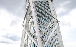 Turning torso. Modern looking office building in Sweden Stock Photo