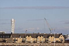 Turning torso and a new cityscape. Turning torso is still dominant in the new cityscape of Malmo Sweden Stock Image