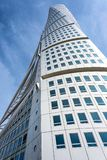 Turning Torso skyscraper in close-up Royalty Free Stock Photography