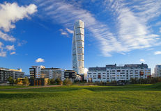 Turning Torso - Skyscraper in Malmo Stock Images
