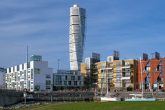 Turning Torso - Skyscraper in Malmo. Designed by the Spanish architect Santiago Calatrava, Sweden Stock Images