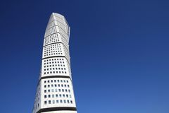 Turning Torso skyscraper, Malmo. MALMO, SWEDEN - MARCH 8: Turning Torso skyscraper on March 8, 2011 in Malmo, Sweden. Designed by Santiago Calatrava, it is the Royalty Free Stock Photo