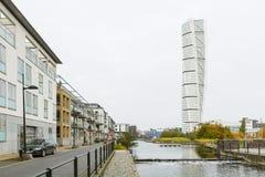 Turning Torso Skyscraper in Malmo, Sweden, editorial Stock Images