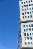 Turning Torso Skyscraper. The modern Turning Torso skyscraper situated in the Swedish city of Malmo Royalty Free Stock Photo