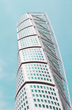Turning torso-tower in Malmo. View of the turning torso twisted tower block in Malmo Stock Image