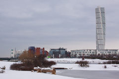 Turning Torso in winter Royalty Free Stock Photography