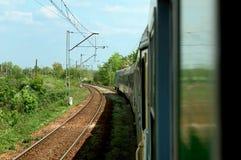 Turning train Royalty Free Stock Images