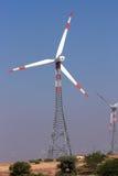 Turning windmill Royalty Free Stock Photos