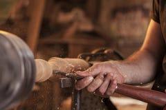 Turning wood Royalty Free Stock Photo