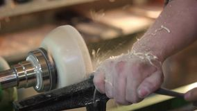 Turning workshop wood stock video footage