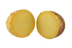 Turnip (Brassica rapa) cut in half Stock Photo