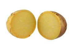 Turnip (Brassica rapa) cut in half Stock Photo