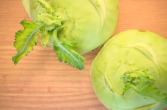 turnip cabbage on a wood surface Stock Image