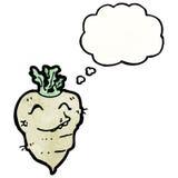 Turnip cartoon character Stock Photography