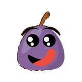 Turnip expressions hungry face. Icon,  illustration Stock Photography